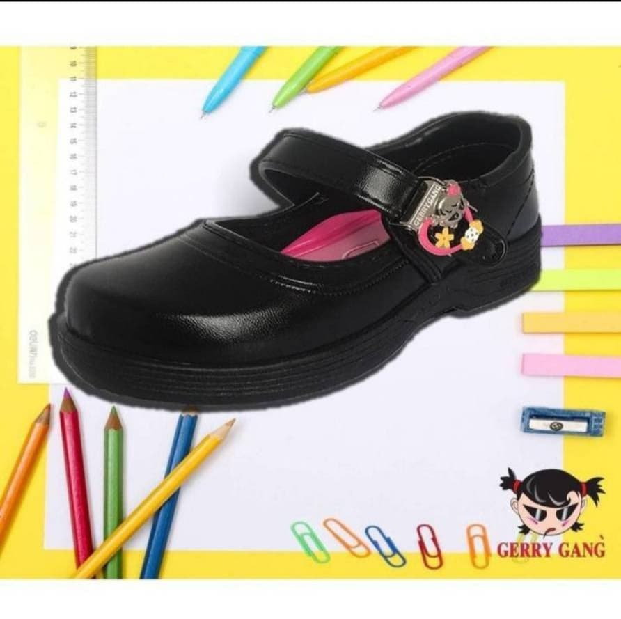 GERRY GANG รองเท้านักเรียน รองเท้านักเรียนหญิง GERRY GANG  รองเท้านักเรียนสีดำ รองเท้านักเรียนเด็กผู้หญิง รองเท้าคัชชูเด