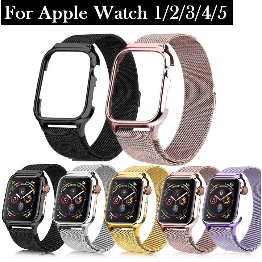 สายนาฬิกา Apple Watch Straps เหล็กกล้าไร้สนิม สาย Applewatch Series 6 5 4 3 2,  Apple Watch SE size 38mm 40mm 42mm 44mm Magnetic Milanese Loop สายนาฬิกาข้อมือ for apple watch iWatch Series6,Series5,Series4 ,Series3, Series2 Watch band