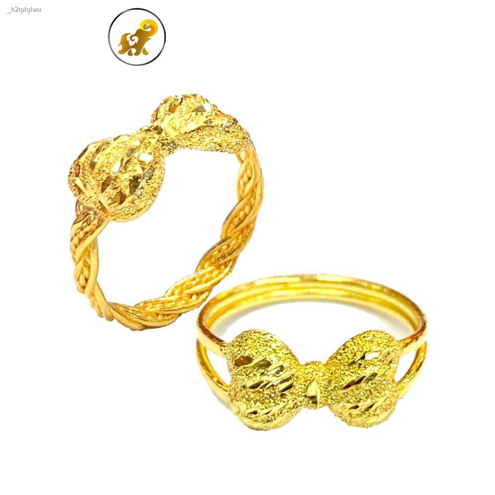 ราคาต่ำสุด∏♝PGOLD แหวนทองครึ่งสลึง เปียโบว์ หนัก 1.9 กรัม ทองคำแท้ 96.5% มีใบรับประกัน