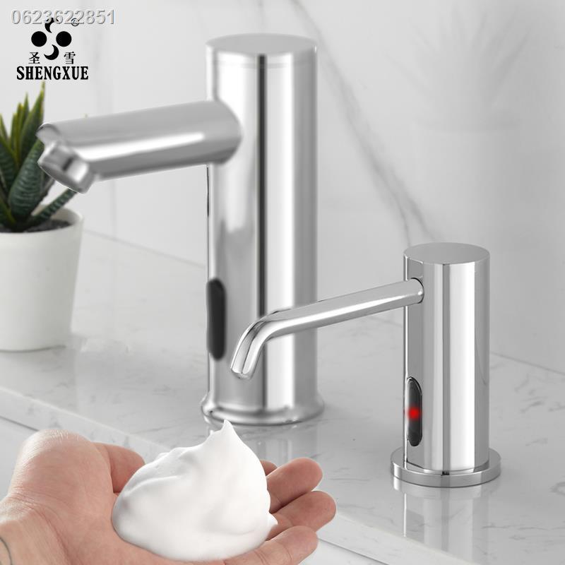 เจลล้างมือเด็ก►﹍✒Shengxue เคาน์เตอร์ห้องน้ำ ตู้ทำสบู่เหนี่ยวนำ เคาน์เตอร์ ก๊อกน้ำ ตู้ทำสบู่ โฟม เครื่องจ่ายเจลทำความสะอา