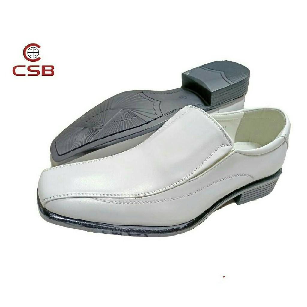 CSB รองเท้าคัชชูหนัง CM503  สีขาว ไซส์  39-45