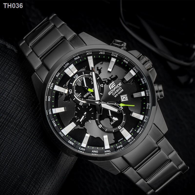 5∈Casio Edifice รุ่น EFR-303D-1AV สินค้าขายดี นาฬิกาข้อมือผู้ชาย สายสแตนเลส1