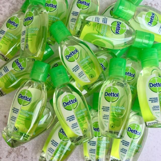 ✖▫✺เดทตอล Dettol เจลล้างมือ 50ml , ทิชชูเปียก แพ็ค10ชิ้น ลดการสะสมของแบคทีเรีย 99.9% พร้อมส่ง!