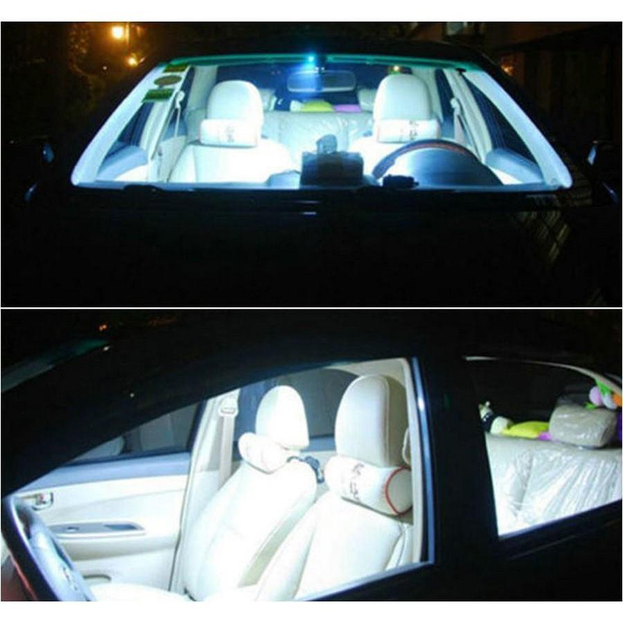 2pcs T10 12V COB Car Interior Panel Lamp Dome Map LED Light Bulbs w// 3 Adapter