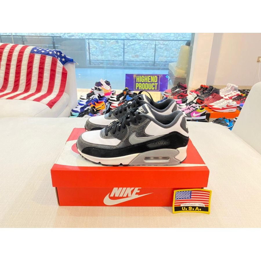 Nike Airmax 90 Python รองเท้าผ้าใบลําลองสีขาว 100% Original Cd0916-100