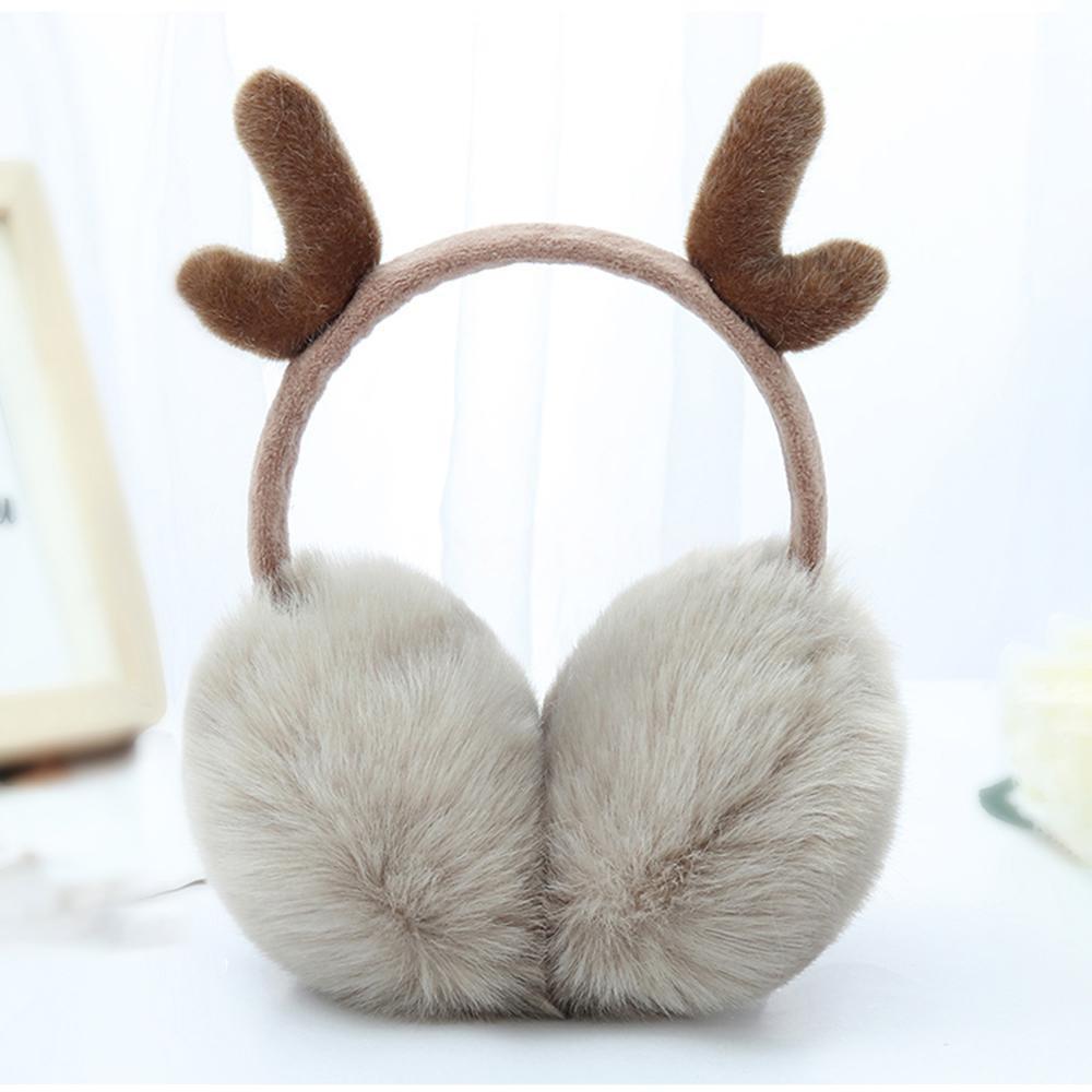 Girls Cute Winter Warm Earmuffs Adorable Bunny Ears Earwarmer for Cold Weather