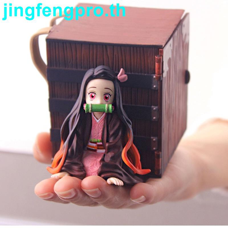 JI-Anime Figure Nezuko Demon Slayer PVC Lying Position with Box Action Figure Collectible Model Toys Dolls Decoration
