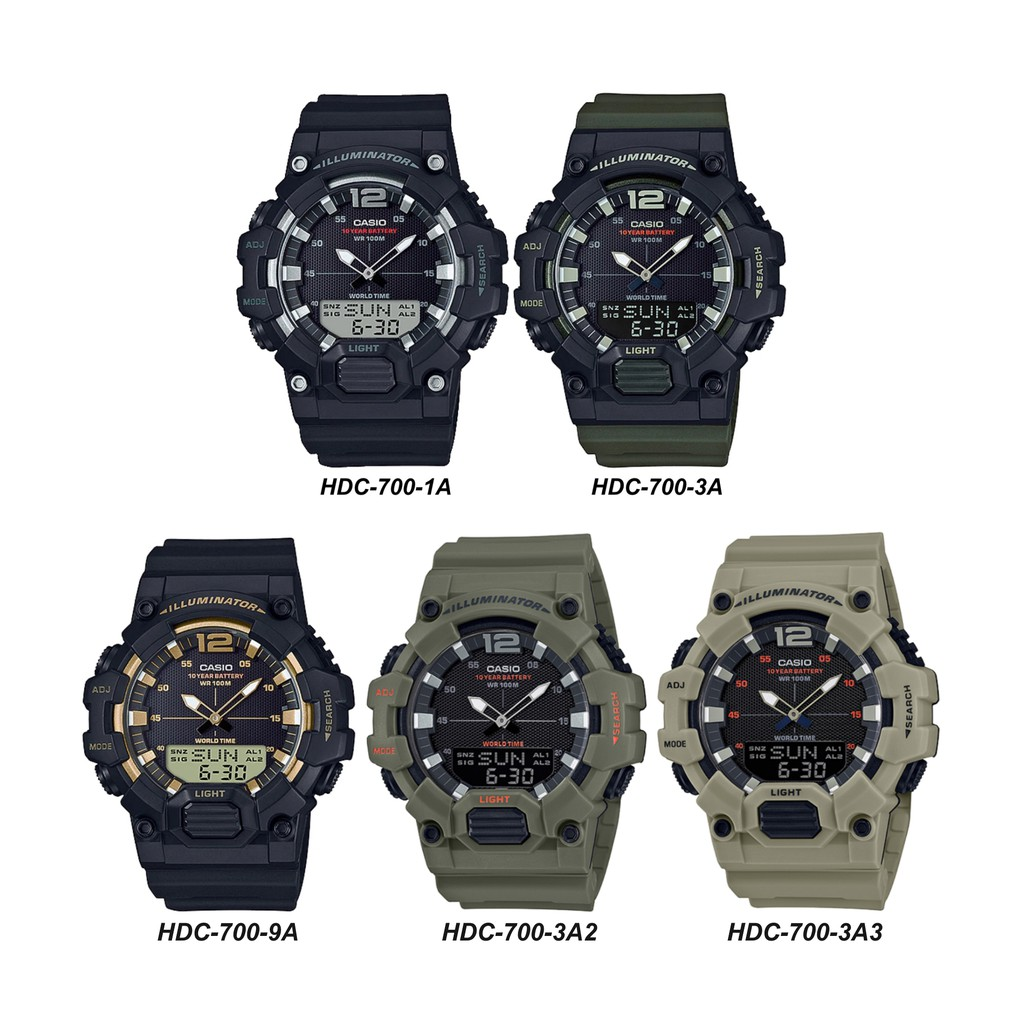 2021Casio Analog-Digital Watch (HDC-700 Series)2021
