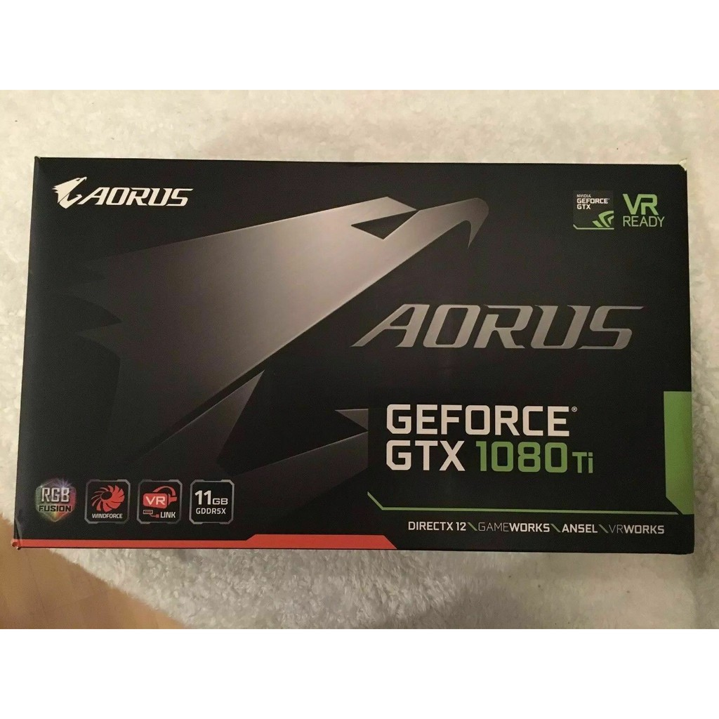 New! GIGABYTE AORUS GeForce GTX 1080 Ti 11GB Video Card ใหม่ มือ1 **โปรดสอบถามก่อนซื้อ