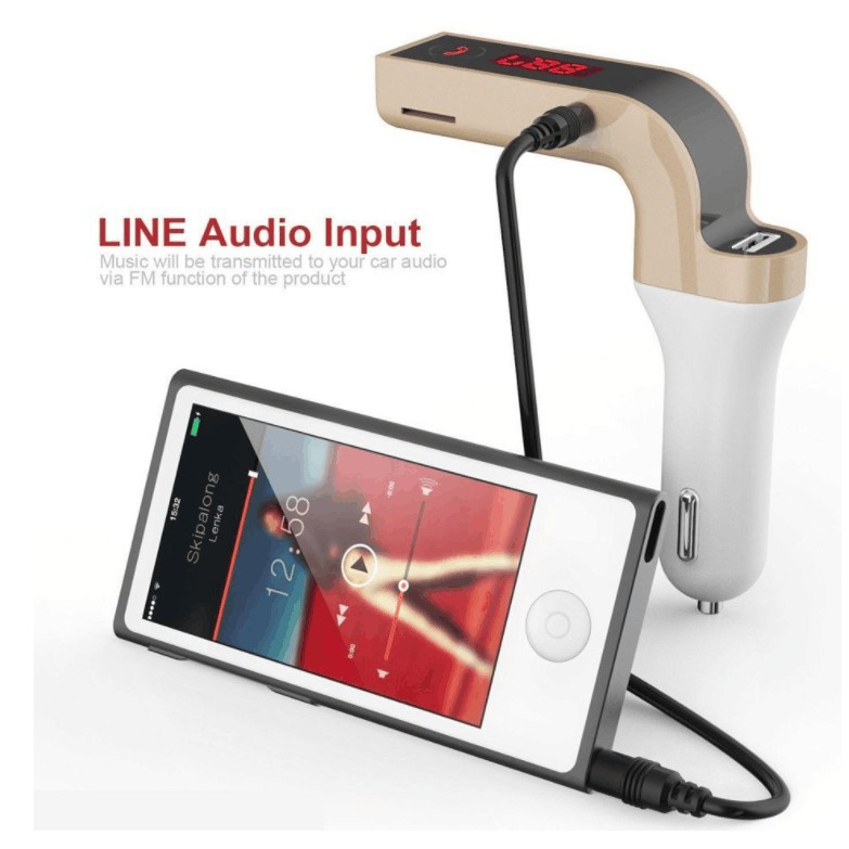 CAR G7 ของแท้รับประกัน1ปี Bluetooth FM Transmitter MP3 Music Player SD USB Charger for Smart Phone