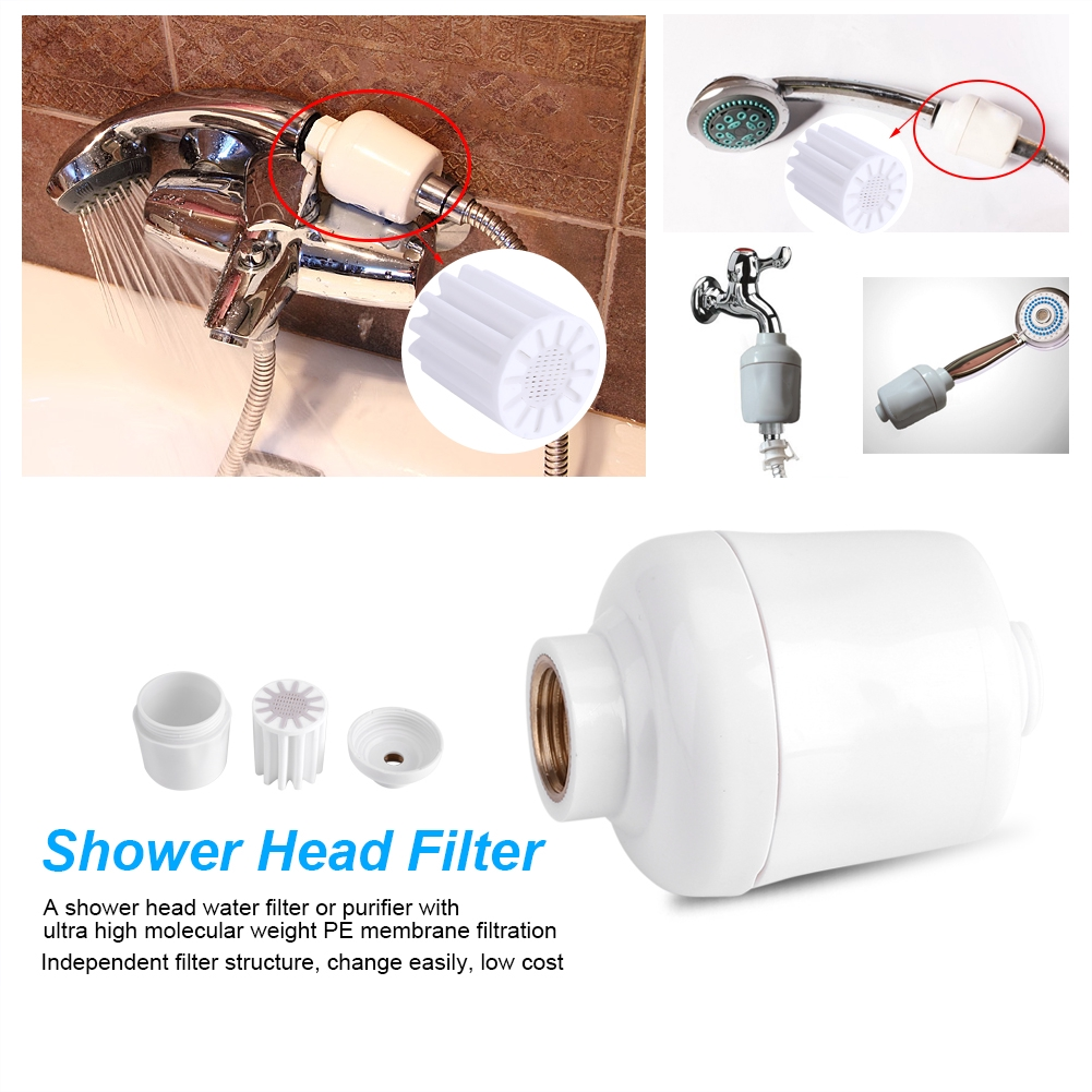 Shower Head Filter Water Purification Connector Faucet Softener Chlorine Remover