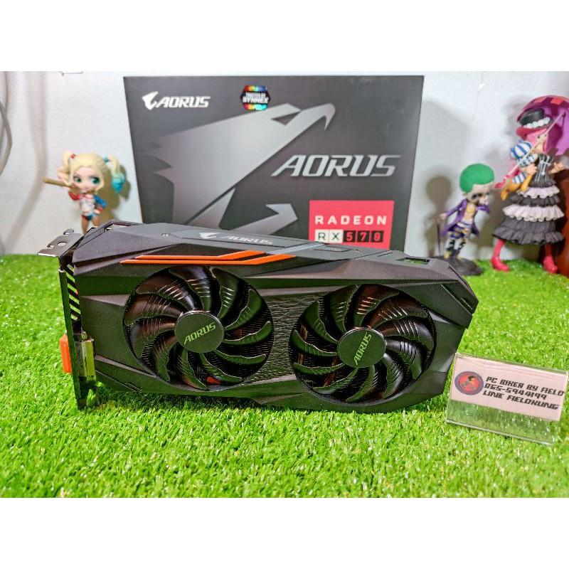 Gigabyte(การ์ดจอ)Aorus RX570 4GB Gaming สภาพดี ครบกล่อง