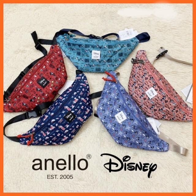 กระเป๋าคาดอก ลดพิเศษกระเป๋าคาดอก Anello x Disney คาดเอว (พร้อมส่ง) กระเป๋าคาดอกผู้ชาย  กระเป๋าคาดอกผู้หญิง