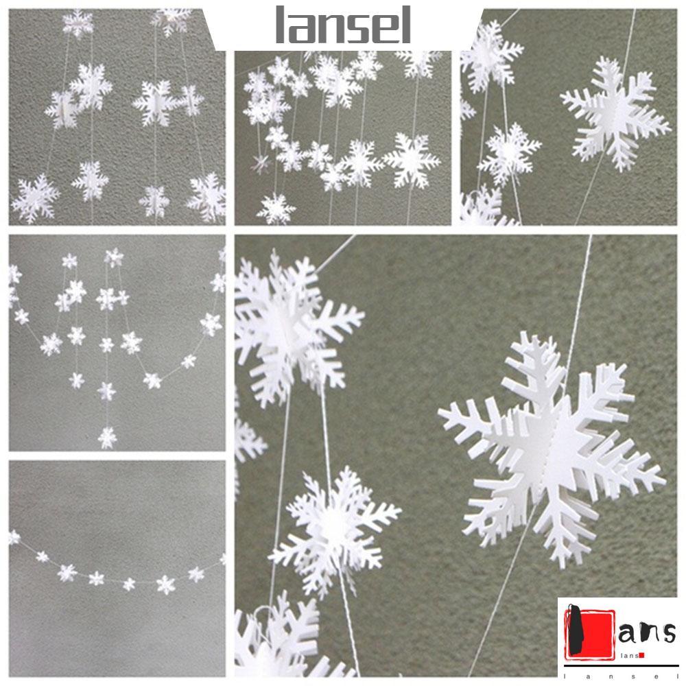 Hanging Ornaments Paper Garlands Xmas Tree Hanger 3D Hollow Snowflake Banner