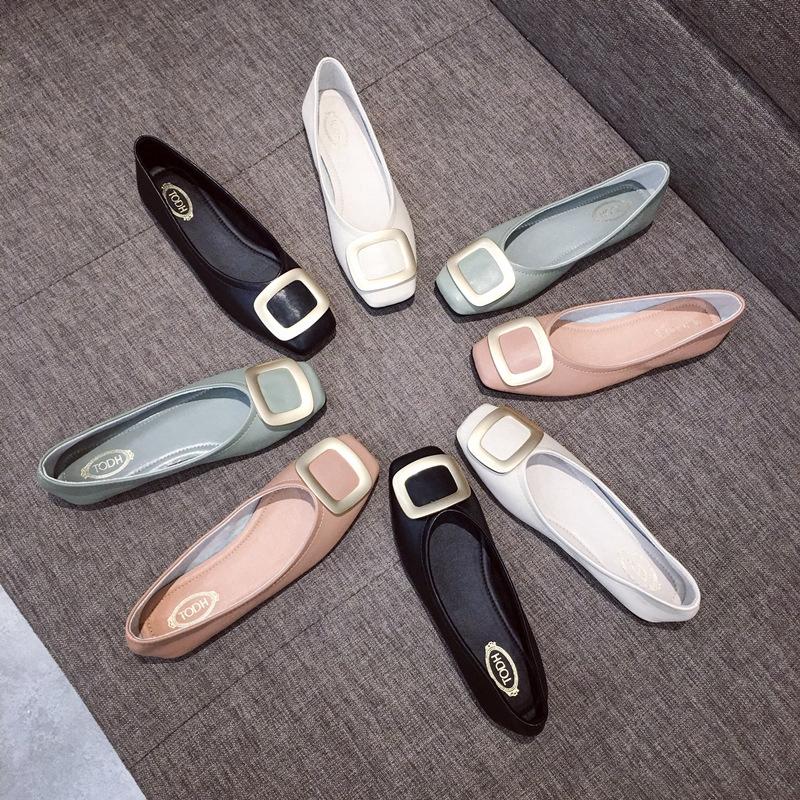 รองเท้าคัทชู ผู้หญิง รองเท้าคัชชู ผู้หญิง หนังนิ่ม มี 4 สีให้เลือก