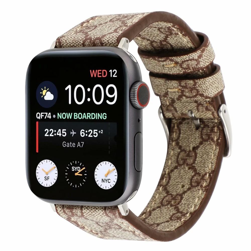 สายนาฬิกาข้อมือหนังสําหรับ Apple Watch Band Series 5 4 3 2