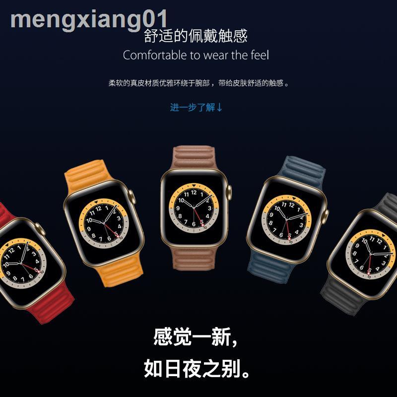 สายนาฬิกาข้อมือหนังแท้สําหรับ Iwatch6 / Se / 5 / 4 Applewatch 2