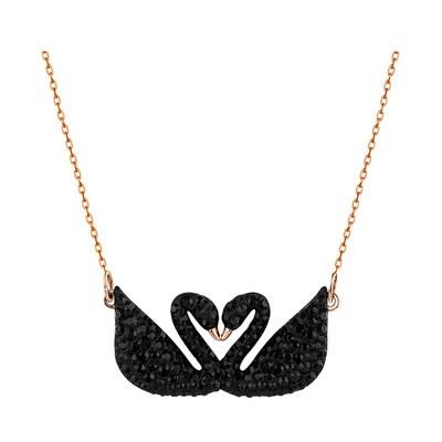 ♡≞[ขายตรง] Swarovski Swan สร้อยคอคลาสสิกหงส์ดำคู่หญิงไหปลาร้าโซ่ของขวัญ5296468