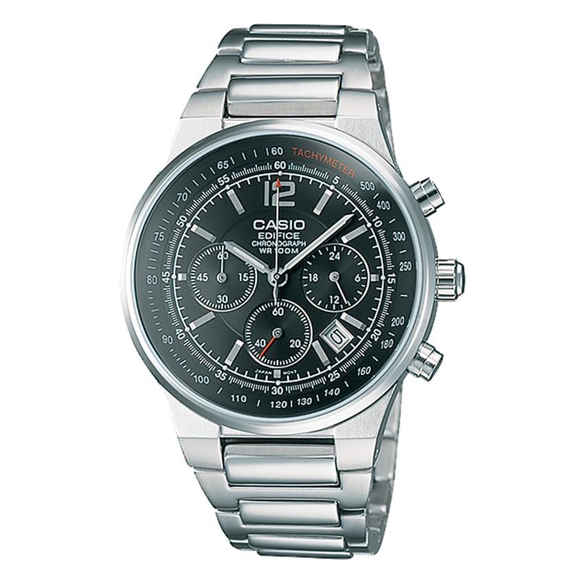 Casio Edifice นาฬิกาข้อมือชาย สายสแตนเลส รุ่น EF-500D-1AV - Silver