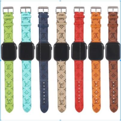 หนังแท้ LV apple watch strap สายนาฬิกา  แบบหนัง iwatch Series SE 6 5 4 3 2 1  สาย applewatch 38 40 42 44mm