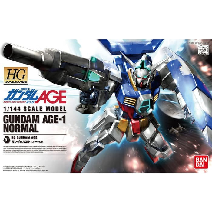 Hg Gundam Age-1 Gundam Age-1 ชุดโมเดลฟิกเกอร์ของเล่นสําหรับเด็ก 01 Bandai
