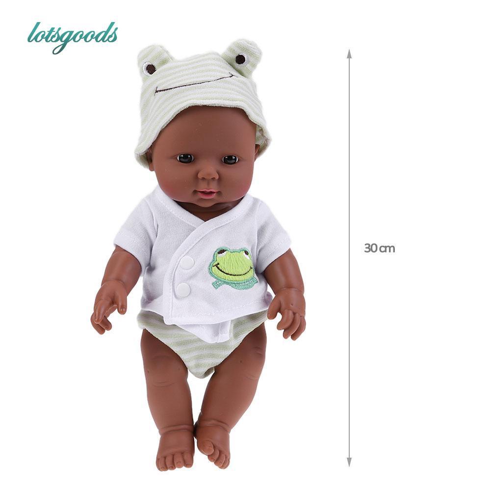30cm Full Vinyl Reborn Doll Baby Newborn Doll /& Clothing Kids Playmate Blue