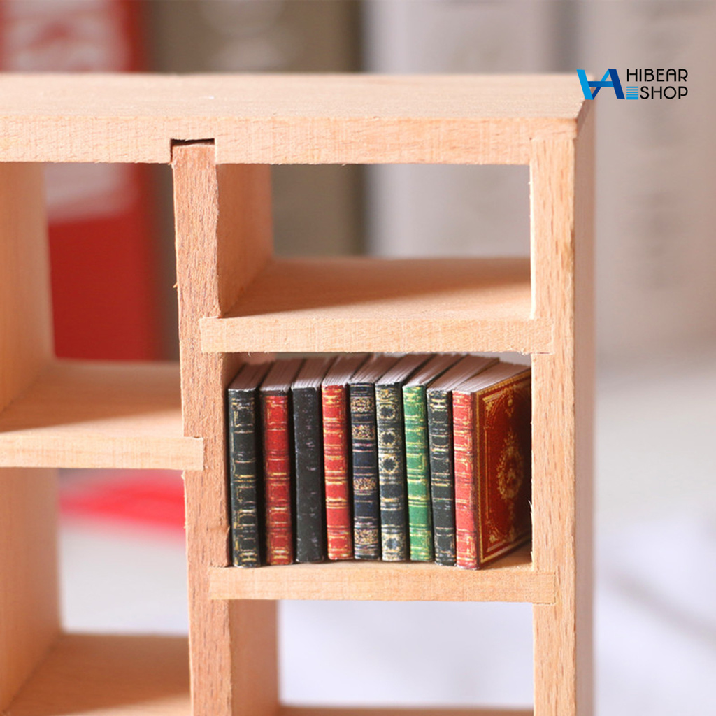 hibearshop 3 Pcs Miniature Books Multi-use Handmade Paper Miniature Books Display for Home
