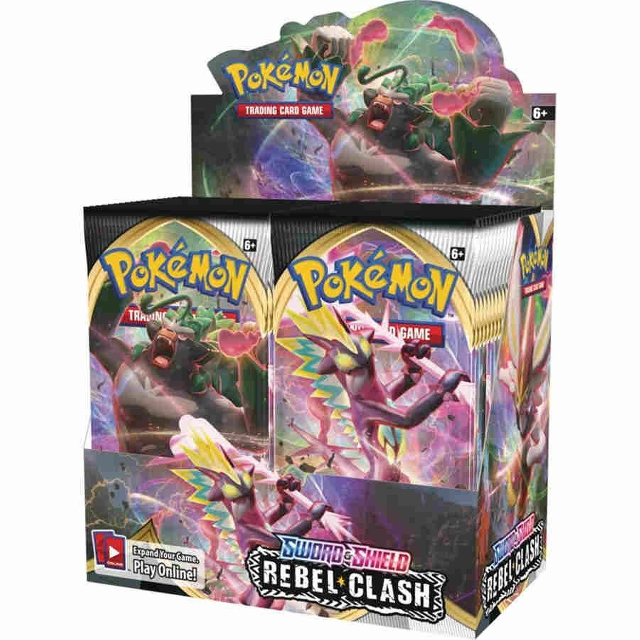 Pokemon Tcg : ดาบ & โล่ 2 Rebel Clash Booster ( 1 กล่อง 36 แพ็ค )