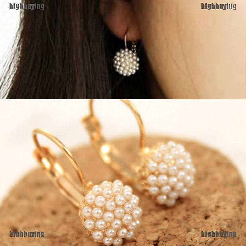 Steel Post Stud Earrings for Womens Girls Color 8mm Bead Faux Pearl Magnetic