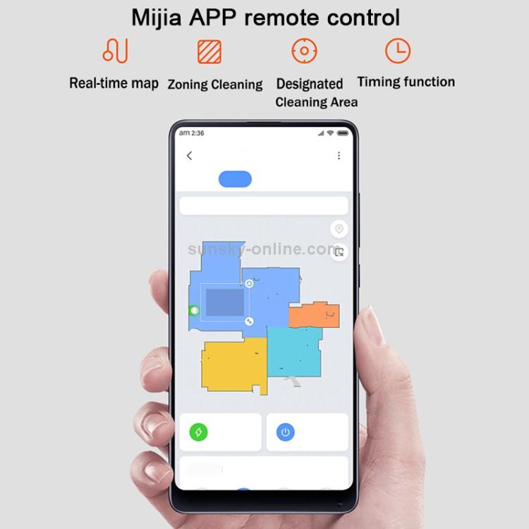 Xiaomi Mijia Pure Intelligent Robot Vacuum Cleaner Smart Mop หุ่นยนต์ดูดฝุ่น ระบบนำทางด้วยเลเซอร์ LDS ความเร็ว