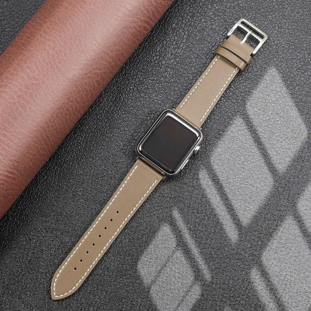 Leather strap for Apple watch band 44mm 40mm iWatch band 38mm 42mm Single tour watchband bracelet Apple watch series 5 4