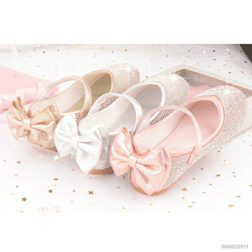 【สินค้าเฉพาะจุด】✤▨卐Shoe1425- รองเท้าคัชชูเด็กเล็ก รองเท้าคัชชูเด็กโต ติดเพขร (ความยาววัดจากพื้นภายใน ให้ใช้ความยาวเท้า +
