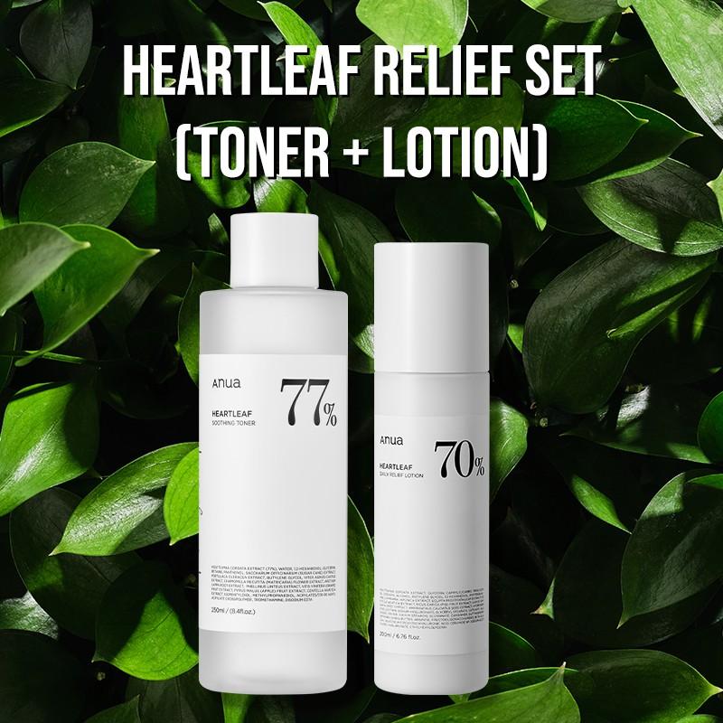 [Anua] Heartleaf Relief SET (Toner + Lotion)