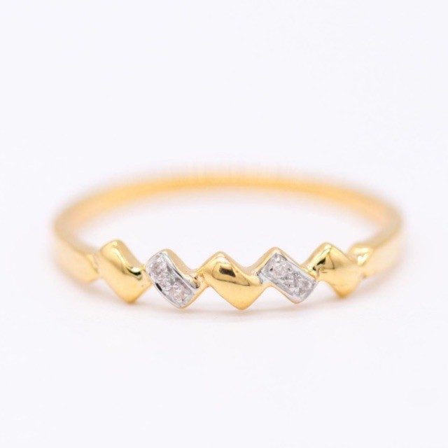 ทองครึ่งสลึง แหวนทอง 1 สลึง ทอง .5 พร้อมส่ง ครบไซส์🔥 แหวนเพชรแท้ น่ารักๆ แหวนแถวเรียงซิกแซก แหวนมินิมอล ใส่ติดนิ้ว ราคา