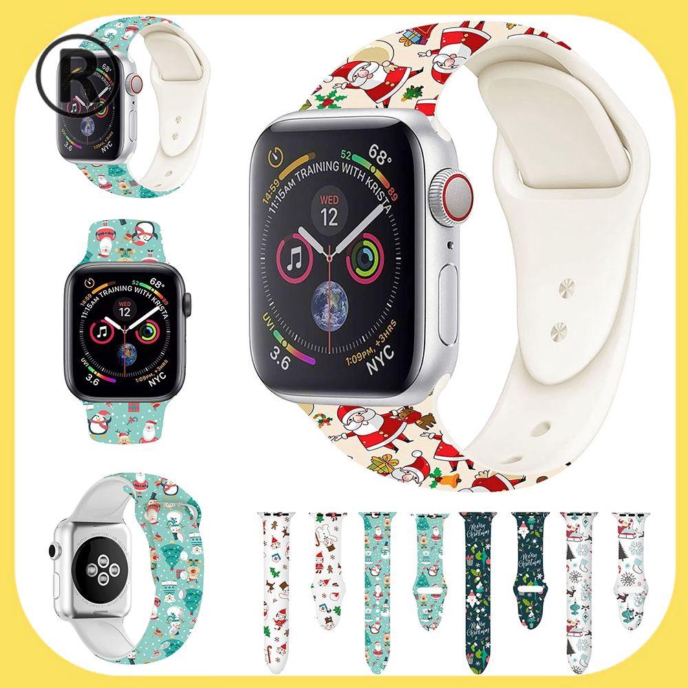 Ready สายนาฬิกาข้อมือซิลิโคนสําหรับ Apple Watch Series 5 4 3 2 1