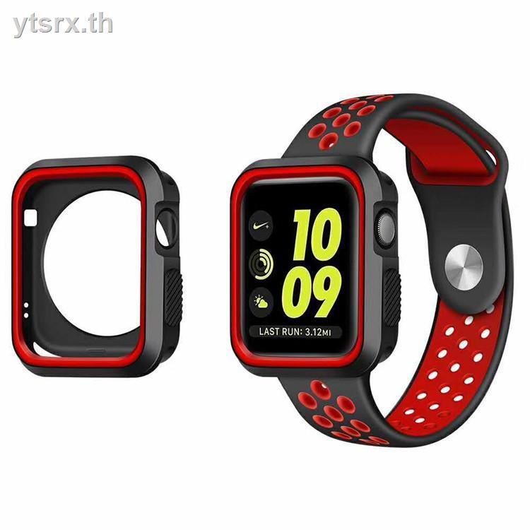 นาฬิกาข้อมือ Apple Watch Seriesเคส Apple Watch CaseCase Apple WatchApplewatch protective shell Apple watch with sports iwatch3 cover two-color silicone 123 generation general purpose