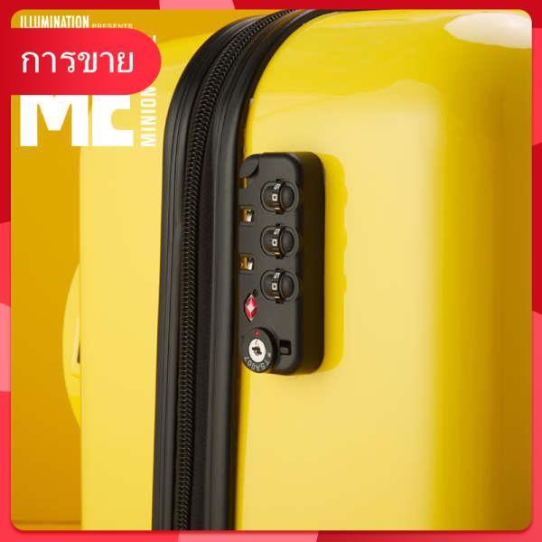 ชายสีเหลืองเล็ก ๆ น้อย ๆ กระเป๋าเดินทางกระเป๋าเดินทางเด็กการ์ตูนเด็กรถเข็นกรณีน่ารักเด็ก 20 นิ้วสามารถนั่งบนเครื่องบินลา