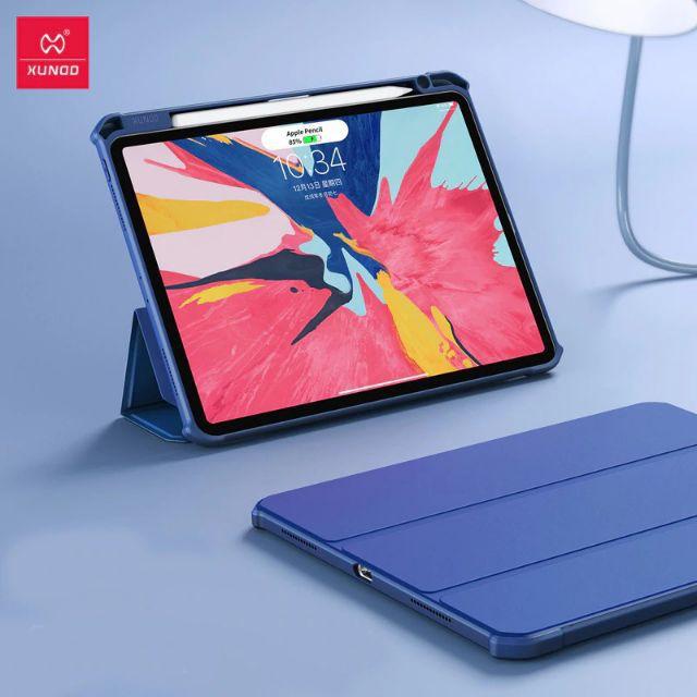 Xundd iPad Leather Case 10.2 air 10.5 Pro 11 ออกแบบให้กันกระแทกอย่างดี เคส ฝาพับ วางปากกา Apple Pencil ชาร์จในถาดได้เลย