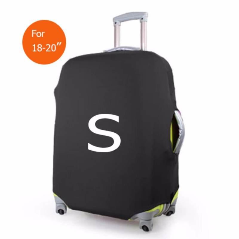 ถุงผ้าคลุมกระเป๋าเดินทาง (Lycra spandex travel suitcase spandex luggage cover) ไซร์ S ขนาดกระเป๋า 18-20 นิ้ว - สีดำ