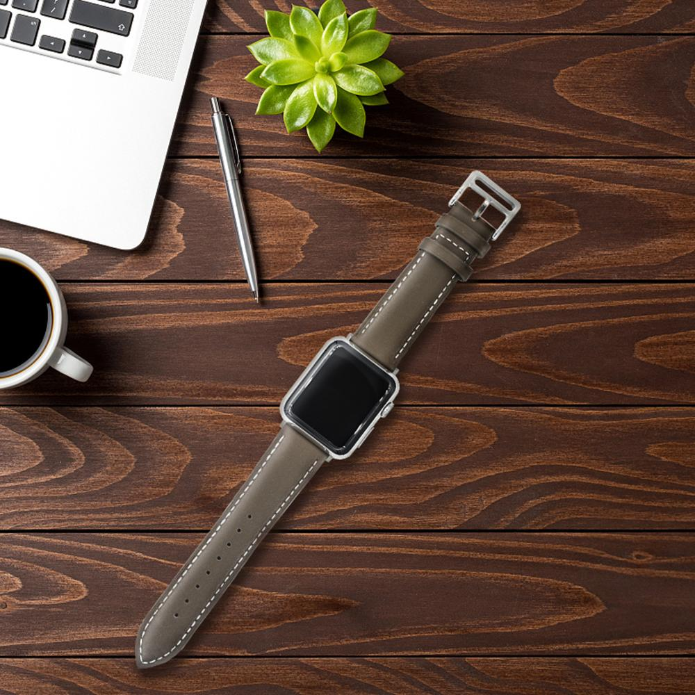 Leather strap for Apple watch band 44mm 40mm iWatch band 38mm 42mm Single tour watchband bracelet Apple watch series 5 4 3 6 se