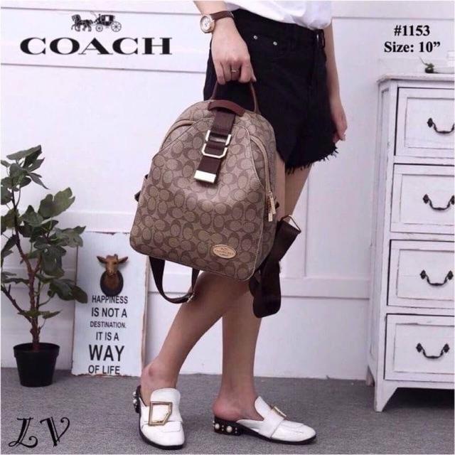 กระเป๋าเป้ Coach  งานพรีเมียม Size : 10 นิ้ว อปก : กระเป๋า, ถุงผ้า