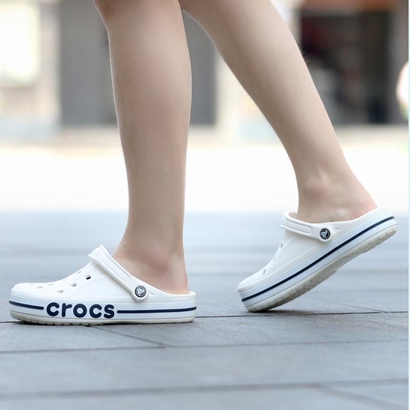 แท้ CROCS LITERIDE AUTHENTIC CROCS รองเท้าแตะลำลองแฟชั่นรองเท้าแตะชายหาดรองเท้าแตะรองเท้ารูรองเท้าคู่รัก