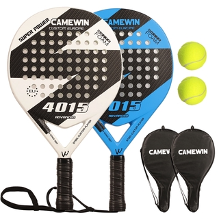 Padel Tennis Racket For Beginners  (Carbon Fiber Frame+ Glass Fiber Surface Padel Racket Set with 2 Racquets 2 Bags and