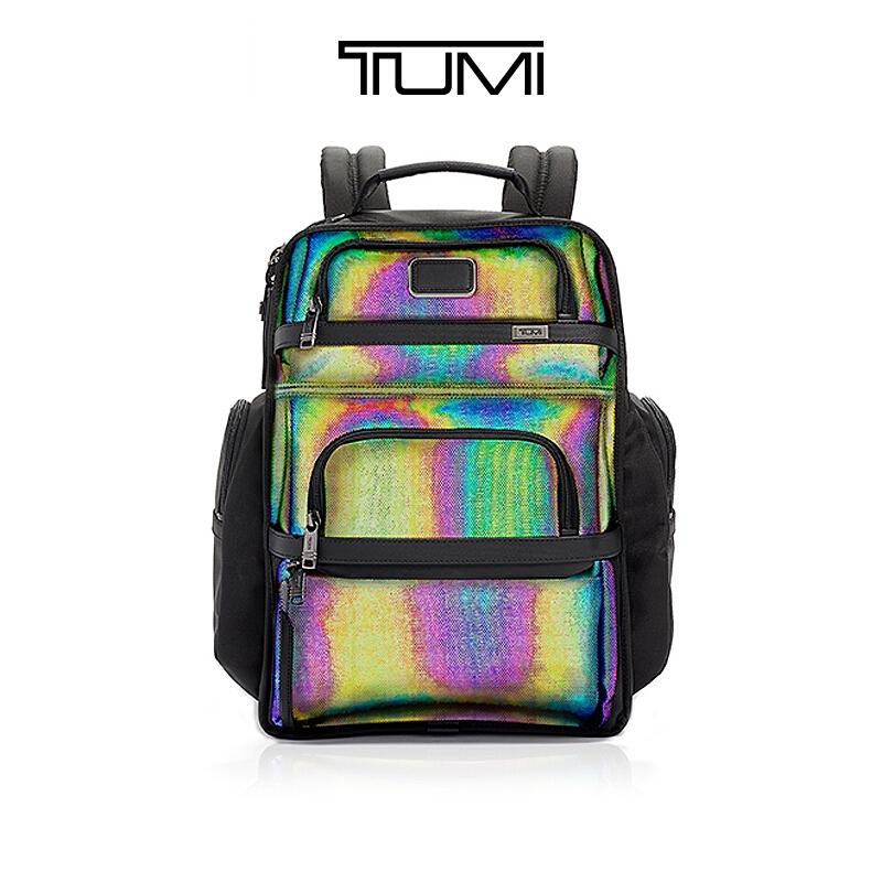 TUMI/Touring Alpha 3ชุดบุคลิกภาพสะท้อนแสงความจุขนาดใหญ่ผู้ชายเดินทางธุรกิจกระเป๋าเป้สะพายหลังอเนกประสงค์