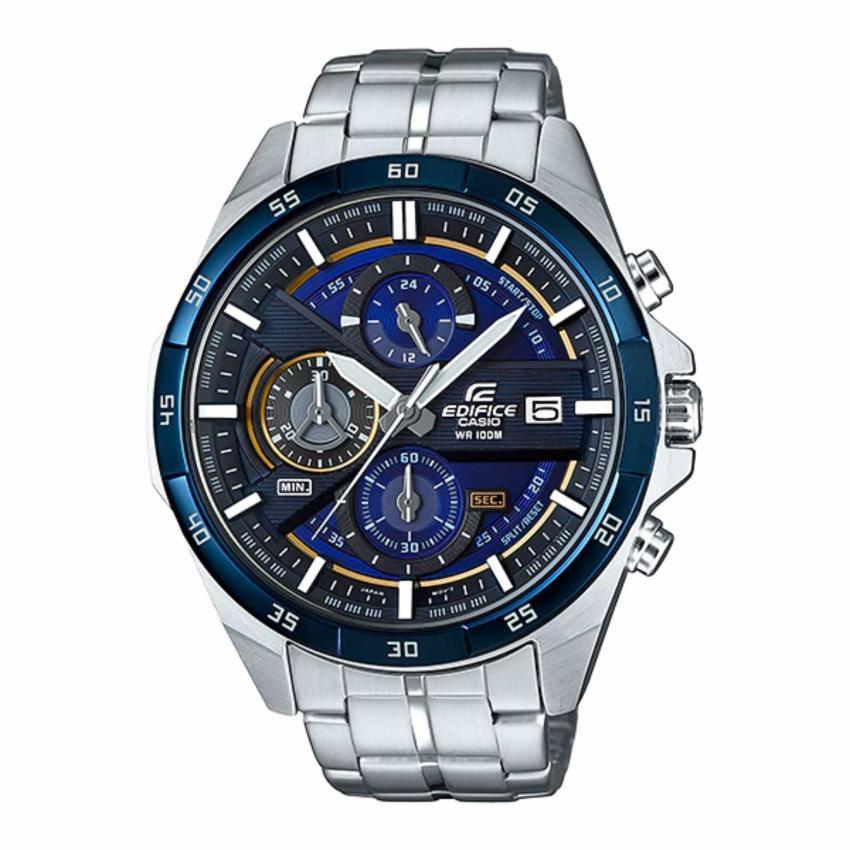 Casio Edifice นาฬิกาข้อมือผู้ชาย สีดำ สายสแตนเลส รุ่น EFR-556DB-2av