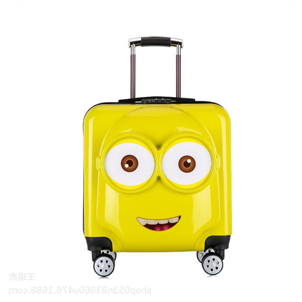 กระเป๋าเดินทางหญิงเด็กการ์ตูนขนาดเล็กน่ารักรถเข็นกรณีเด็กทารกหญิงกระเป๋าเดินทางเจ้าหญิงโลโก้ของขวัญ