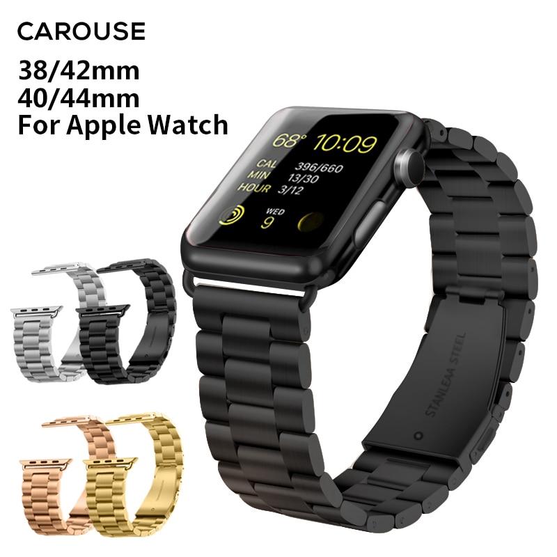 สายนาฬิกาข้อมือสแตนเลสสตีล 20 สําหรับ Apple Watch Band Series 5/4/3/2 38 มม. 42 มม. Iwatch Series 40 มม.