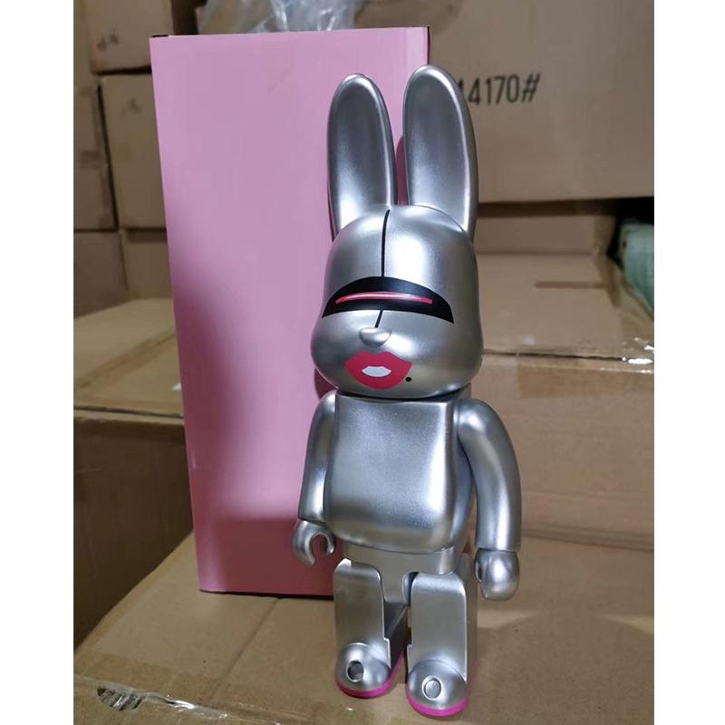 Gold X-large HajimeSorayama Rabbit Peking Opera Mask Red Lucky Rabbit Bearbrick 400% Action Figure Collection Toy