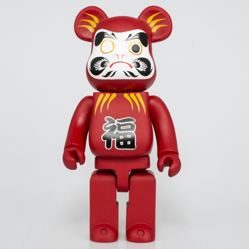 Popualr Red Bearbrick Peking Opera Mask Red Lucky Action Figure Toy Collectible