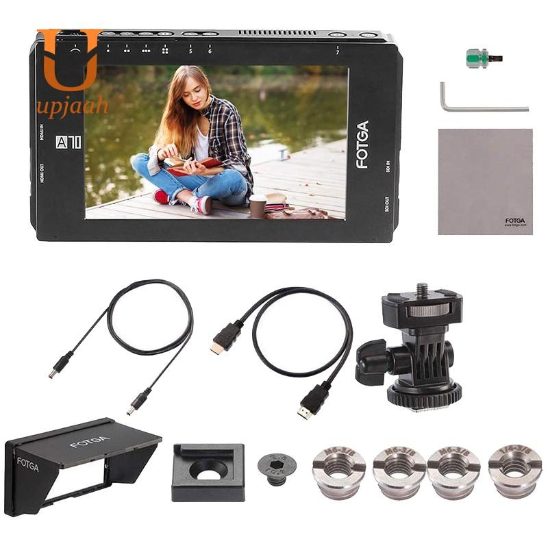 Fotga A 70 หน้าจอ 7 นิ้ว Fhd กล้องวิดีโอ On - Camera Field Monitor Ips 4k Hdmi สําหรับติดรถยนต์